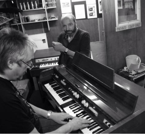 Martin Smith and John Bradley with a MKII mellotron